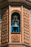 Close up of The Moorish Revival Chapel of El. Carmen in Seville, Spain. Bell tower Stock Image
