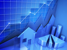 Close-up mortgage graph Royalty Free Stock Image