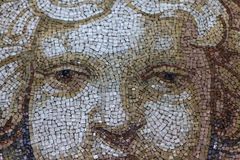 Close up Mosaic Cherub Angel Face Royalty Free Stock Images