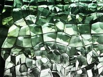 Green colored glass pattern design stock photo