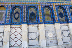 Close-up of the Mosaic Tiles on The Dome of the Rock Royalty Free Stock Images
