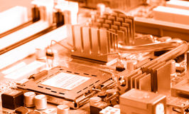 Close-up mother board background Stock Images
