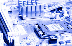 Close-up mother board background Stock Photography
