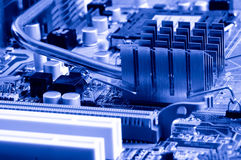 Close-up mother board background Royalty Free Stock Photography