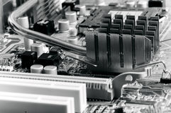 Close-up mother board background Royalty Free Stock Images