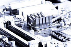 Close-up mother board background Royalty Free Stock Photo