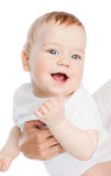 Close up of mother holding smiling baby Royalty Free Stock Image