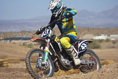 A Close Up Motocross Racer Practices at SARA Park Royalty Free Stock Photography