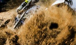 Close-up of motocross wheel. royalty free stock photo