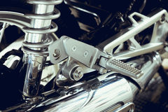 Close up Motorcycle. In detail Royalty Free Stock Image