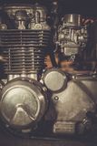 Close-up motorcycle engine royalty free stock photography