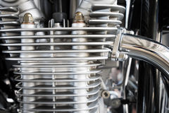 Close up Motorcycle. Engines and details Stock Photography