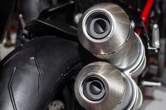 Close up of motorcycle exhaust Stock Image