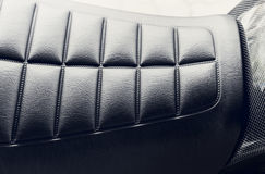Close up Motorcycle. Leather seats Royalty Free Stock Photos