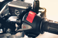Close up Motorcycle. Switch and control Royalty Free Stock Images