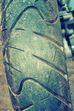 Close up of motorcycle wheel Royalty Free Stock Images