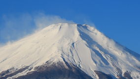 Close up Mount Fuji Japan stock video