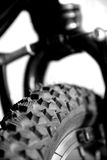 Close up of a mountain bike tyre Stock Photography