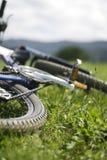 Close-up of mountainbike. Close up of mountainbike on the grass Stock Photos