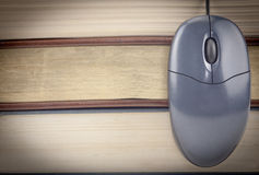 Close Up Mouse And Books Royalty Free Stock Image
