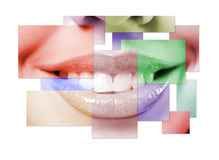 Close up mouth of the girl Stock Images