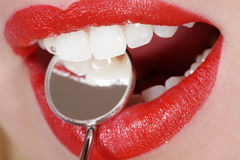Close-up mouth and teeth Royalty Free Stock Image