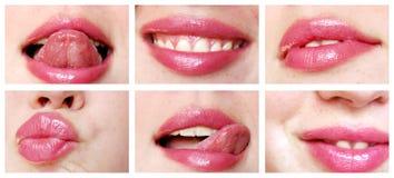 Close-up mouth and tongue Royalty Free Stock Photo