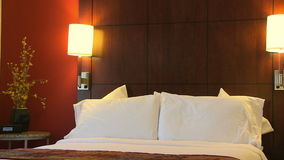 Close Up Move Through Contemporary Hotel Room stock footage