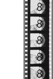 Close-Up Movie Leader Film Strip (black And White) Royalty Free Stock Image
