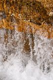Close-up of moving water. High speed shot Stock Photography