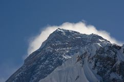 Mt Everest Looming stock images