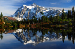Close-up of Mt Shuksan Royalty Free Stock Photos