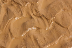 Close-up of mud. After a heavy rain Stock Images