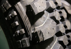 Close up of mud terrain tyre surface shallow depth of field Stock Photography