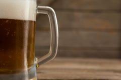 Close-up of mug of beer Stock Image