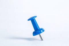 Close up muliple push pin insert Stock Photo