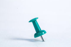 Close up muliple push pin insert Stock Photo