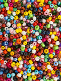close up multi colored beads Royalty Free Stock Photo