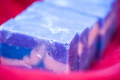 Close up of hand crafted soap royalty free stock photography