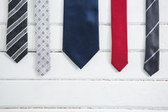 Close up of multi colored necktie Stock Image