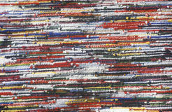 Close up of multi-colored rug Stock Image
