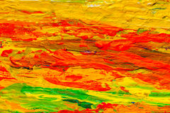 Close up multicolor acrylic color painted on canvas Royalty Free Stock Images