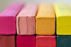 Close up Multicolor Chalk for background Stock Photo