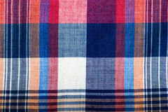 Close up multicolor plaid fabric texture for background. Toned Royalty Free Stock Image