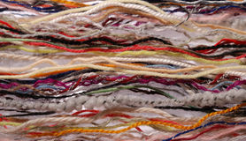 Close-up of multicolored fibers. Royalty Free Stock Photo