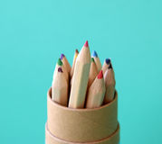 Close-up of multicolored pencils. Stock Images