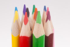 Close-up of multicolored pencils Stock Photo