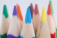 Close-up of multicolored pencils Stock Photos