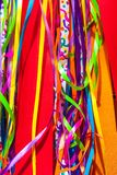 Close up with multicolored ribbons Stock Images