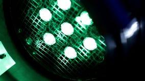 Close-up multicolorido dos projetores filme